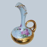 """Breathtaking Austria 1900's Hand Painted """"Red & Pink Roses"""" Fancy Floral Ewer by Artist, """"Jean Helm"""""""