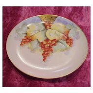 "Vintage 1900's Austria ""Red Currant"" 6-5/8"" Plate by Edward Donath Artist ""Peplow"""