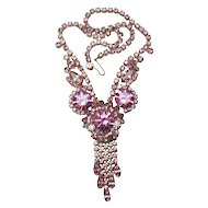 Juliana D&E Brilliant Pink Rhinestone Necklace