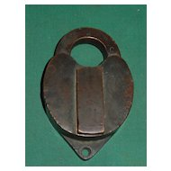 Antique Bronze Padlock Railroad Lock 1879 WRR Bohannan 87 Brooklyn