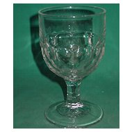 EAPG Goblet Honeycomb Water Wine Four Row Laredo or New York