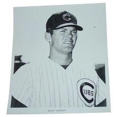 1969 Randy Hundley Original Chicago Cubs Baseball Press Photograph MLB 8 X 10 BW