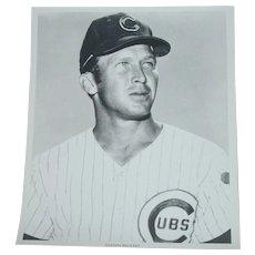 1969 Glen Beckert Original Chicago Cubs Baseball Press Photograph MLB 8 X 10 BW
