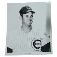 1969 Bill Hands Original Chicago Cubs Baseball Press Photograph MLB 8 X 10 BW