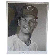 1970 Cincinnati Reds Darrel Chaney Original Baseball Press Photograph MLB 8 X 10 BW