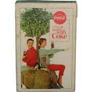 Vintage Coca Cola Playing Cards 1963 Things Go Better With Coke Button Bottle