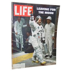 Life Magazine Neil Armstrong Leaving for the Moon July 25, 1969