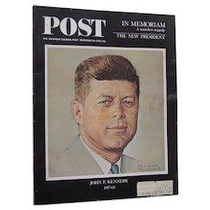 Saturday Evening Post Magazine President John F. Kennedy In Memoriam Dec 14 1963