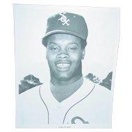 Vintage Chicago White Sox 1970 Press Photograph Carlos May MLB 8X10 BW