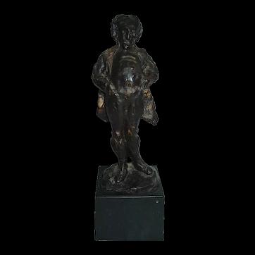 Bronze Sculpture Honore Daumier Listed Artist Signed Le Monsieur Qui Ricane