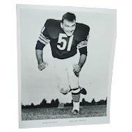 Chicago Bears Original Press Photo 1968 Dick Butkus NFL Football 8 X 10 BW