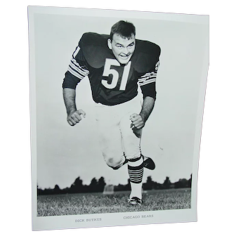 Chicago Bears Original Press Photo 1968 Dick Butkus NFL Football 8 X 10 BW