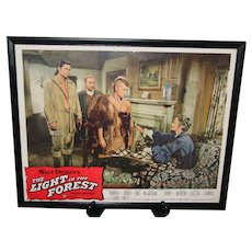 Walt Disney Original Lobby Card 1958 Light in the Forest Framed Authentic