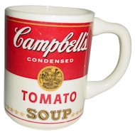 Vintage Campbell's Soup McCoy Mug Tomato Can Advertising 1960's Pottery