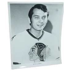 1970 Chicago Blackhawks Bryan Campbell Photo NHL 8X10 BW Press Team Photo
