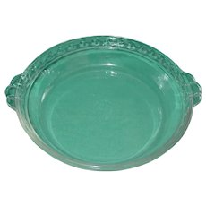 Vintage Pyrex Pie Plate 228 Deep Dish Fluted Edge Clear Glass Tab Handles