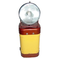 Vintage Railroad Lantern Justrite Lamp Flashlight 40's Era Swivel Head