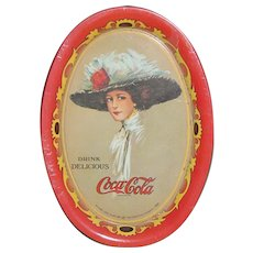 Vintage Coca Cola 1973 Tip Tray Drink Delicious & Refreshing Coke 1909 Reprint