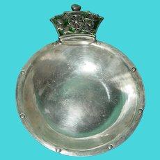 Antique Sterling Silver Tastevin Wine Taster Cup London Hand Made Enamel