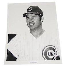Chicago Cubs 1969 Ron Santo Original Press Photograph MLB Louis Okmin