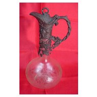 WMF Pewter & Acid Cut Glass Ewer