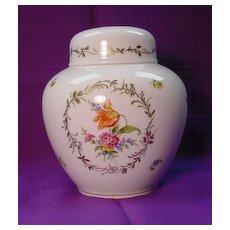 Hutschenreuther Lidded Jar...handpainted w/ Flowers