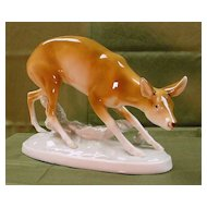 Royal Dux large Doe Figure (Figurine)....
