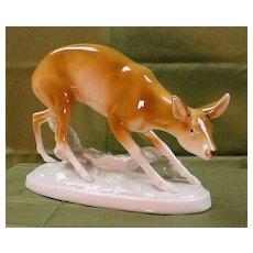 Royal Dux large Doe Figure (Figurine)....