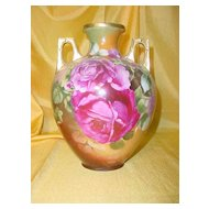 Royal Austria Vase ptd. w/ Roses by the D'ARCY Studio...