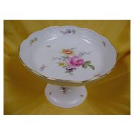 "Meissen Pedestal Bowl...1880/1890....6-3/4"" high"