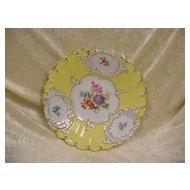 Meissen Show Plate...Hd. Ptd. Flowers