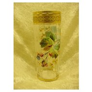 English Art Glass Tumbler...Enameled
