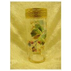 English Art Glass Tumbler...Enameled