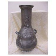 """Spectacular Kayserzinn Art Nouveau 22"""" Vase"""