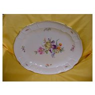 Oversized Meissen Platter/Tray...Floral and Insects