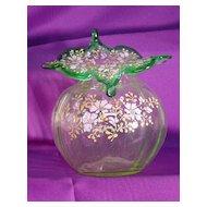 Bohemian JIP Vase...Enameled Floral Design