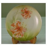 Plate decorated w/ Lilies...R.S.Germany
