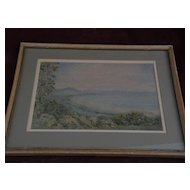 New Zealand art original watercolor by noted New Zealand artist CRANLEIGH BARTON (1890-1975)