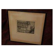 FRANK BRANGWYN (1867-1956) important British art pencil signed etching