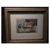 After PABLO PICASSO (1889-1973) lithograph color print dated 1921