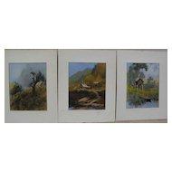 SYDNEY LAWRENCE (1865-1940) Alaskana signed colored Alaska scene prints by Griffin's