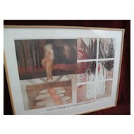 JENNIFER BARTLETT (1941-) major American contemporary artist pencil signed 1984 museum poster