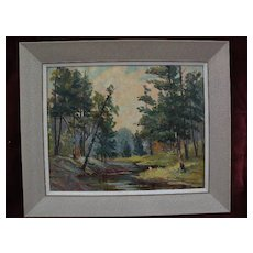 Canadian art beautifully executed impressionist painting signed EOLA SUTHERLAND