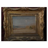 Colorado plains art late 19th century style signed dated landscape painting