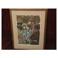 EMILIO GRAU-SALA (1911-1975) major Spanish modern artist pencil signed limited edition lithograph print