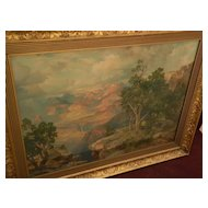 THOMAS MORAN (1837-1926) Southwestern American art nicely framed chromolithograph print of the Grand Canyon circa 1912