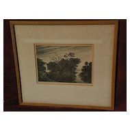 BUELL WHITEHEAD (1919-1993) Florida regionalist art pencil signed lithograph print