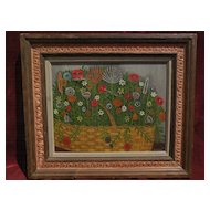SAMUEL KOCHMEISTER (KOCH) 1887-1963 American naive art floral still life painting