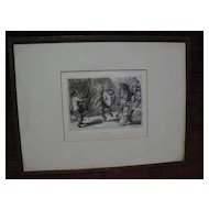 "JOHN SLOAN (1871-1951) pencil signed limited edition etching ""Man Monkey"" with important provenance"