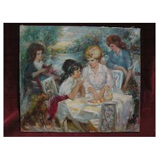 French art contemporary impressionist painting likely by listed artist  PIERRE-EUGENE DUTEURTRE (1911-1989)